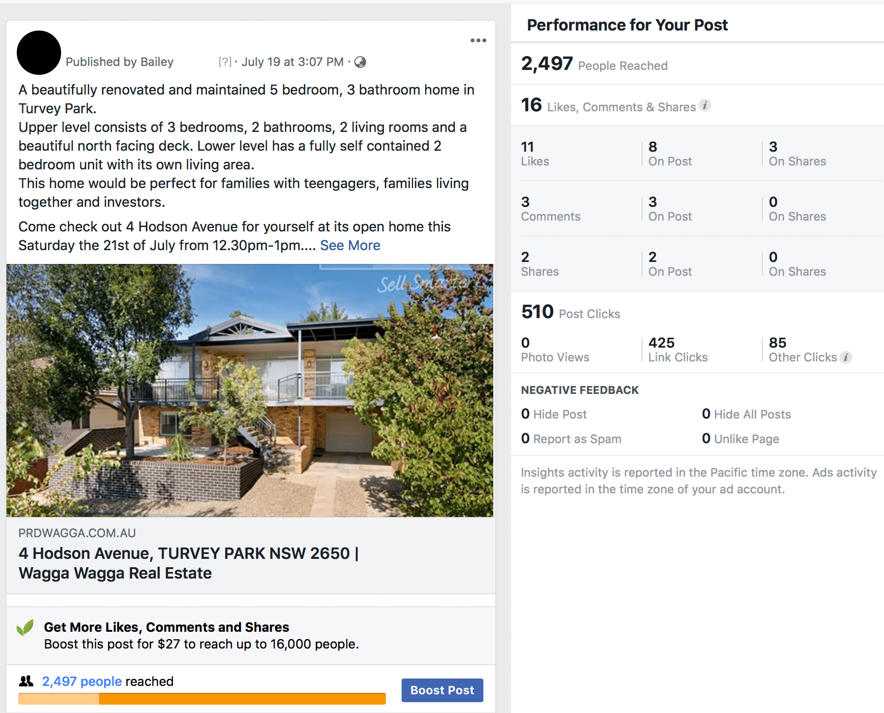 social media marketing case study real estate